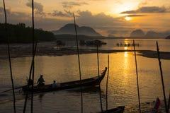 Beautiful morning light at Baan Sam Chong Tai Stock Photos