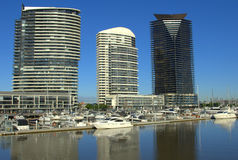 Beautiful morning at the Melbourne Docklands Royalty Free Stock Photos
