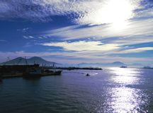 Beautiful morning in Naples Harbor,Italy. Stock Photos