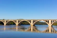 A beautiful morning on Potomac River near Key Bridge in Washington DC, USA. Stock Photo