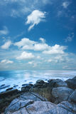 Beautiful morning sea scenery Stock Photo