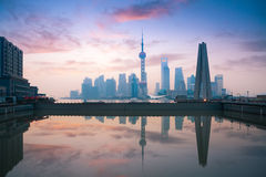 Beautiful morning in shanghai Stock Photos