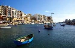 Beautiful morning at Spinola Bay, St Julian's ,  Malta. Stock Photography