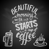 Beautiful morning starts with a cup of coffee Royalty Free Stock Photography
