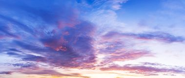 Beautiful morning twilight sky. And colorfull cumulus clouds at draw pastal tone Stock Photos
