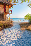 A beautiful morning with a walking paths to the beach in Lipe is Stock Photo