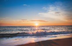 Beautiful morning whit sunrise. Sunrise on the beach, beautiful morning Royalty Free Stock Photo