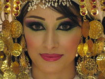 Beautiful Moroccan bride in costume stock photo