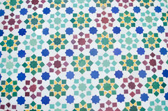 Beautiful Moroccan tile mosaic with floral pattern Stock Photo