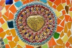 Beautiful Mosaic Art. At thailand stock image