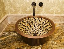 Beautiful Mosaic Basin. In Luxury Home Stock Image