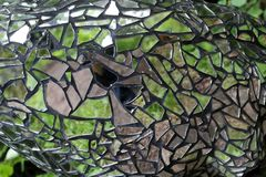 Beautiful mosaic. /  of ordinary glass royalty free stock images