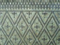 Mosaic of gray rhombuses of slate stones stock photography