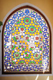 Beautiful mosaic window in oriental style Stock Images