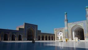 A beautiful mosque in Afghanistan stock video footage