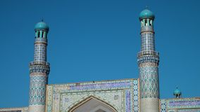 A beautiful mosque in Afghanistan. A tilt up shot inside a beautiful mosque in Afghanistan stock footage