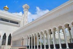 Beautiful Mosque with blue sky. Beautiful mosque in Asian is name `Omar Ali Saifuddien` mosque in Bandar Seri Begawan, Brunei Darussalam Stock Images