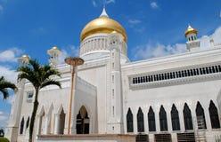 Beautiful Mosque with blue sky. Beautiful mosque in Asian is name `Omar Ali Saifuddien` mosque in Bandar Seri Begawan, Brunei Darussalam Stock Image