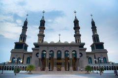 Beautiful mosque in Borneo Indonesia. Royalty Free Stock Image