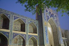 Beautiful Mosque in Bukhara Uzbekistan Central Asia. On of The numerous Beautiful and Colourful mosques and mausoleums of the ancient city of Bukhara in royalty free stock photo