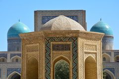 Beautiful Mosque in Bukhara Uzbekistan Central Asia. On of The numerous Beautiful and Colourful mosques and mausoleums of the ancient city of Bukhara in stock photo