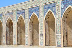 Beautiful Mosque in Bukhara Uzbekistan Central Asia. On of The numerous Beautiful and Colourful mosques and mausoleums of the ancient city of Bukhara in royalty free stock photography