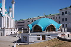The beautiful mosque is in city Kasan Royalty Free Stock Photos