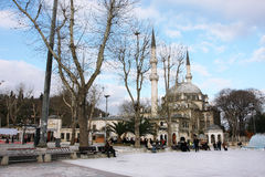 Beautiful mosque and the clouds Royalty Free Stock Images