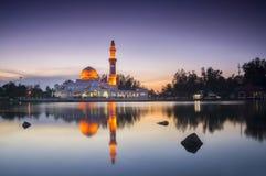 Beautiful Mosque in Glorious Sunset Stock Photos