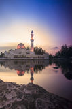 Beautiful Mosque in Glorious Sunset Royalty Free Stock Images