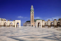 Beautiful mosque Hassan second, Casablanca, Morocco Stock Images