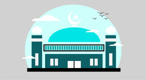 Beautiful mosque illustration Stock Photography