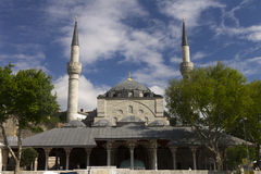 A beautiful mosque with minarets Royalty Free Stock Image