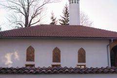 Beautiful mosque.Muslim worship place. Beautifull mosue islamic center. Otoman style architecture stock image