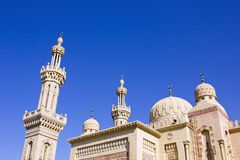A beautiful mosque in Port Said,Egypt. The minaret of a mosque in Port Said,Egypt Stock Images