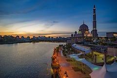 Beautiful mosque in Putrajaya, Malaysia Royalty Free Stock Photos