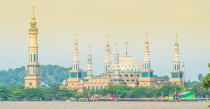 Beautiful mosque by the river Royalty Free Stock Photography