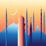 Beautiful mosques and minarets Royalty Free Stock Photo