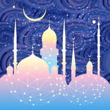 Beautiful mosques and minarets Royalty Free Stock Image