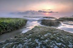 Beautiful Mossy Seascape in Yogyakarta. Beautiful seascape captured in Yogyakarta, Indonesia Stock Photo