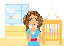 Beautiful  mother Royalty Free Stock Image