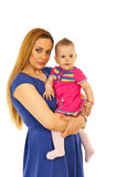 Beautiful mother and baby girl Royalty Free Stock Image