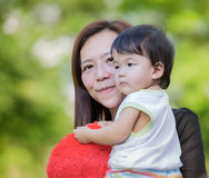 Beautiful Mother And Baby outdoors Royalty Free Stock Images