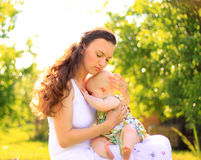 Beautiful Mother And Baby outdoors Royalty Free Stock Photo