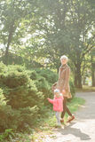 Beautiful Mother And Baby outdoors. Nature. Beauty Royalty Free Stock Photography