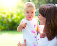 Beautiful mother and baby Royalty Free Stock Photos