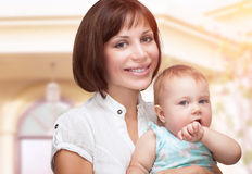 Beautiful mother with baby Stock Photography