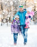 Beautiful mother with children Royalty Free Stock Photos