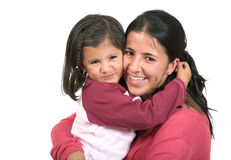 Beautiful mother and daughter Stock Photos