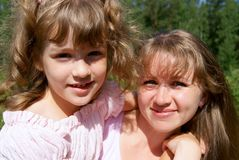 Beautiful mother and the daughter Royalty Free Stock Image